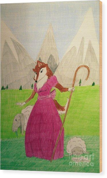 Collie Bo Peep Wood Print