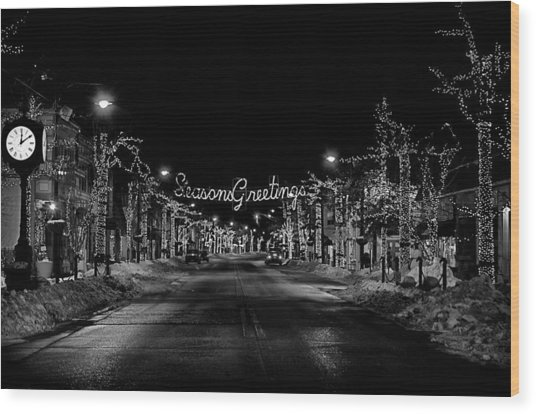 Collingswood Christmas Wood Print