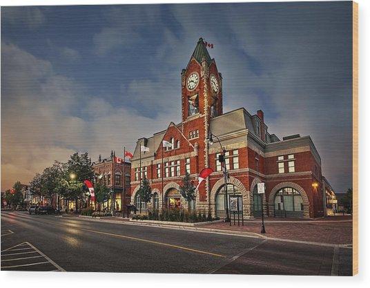 Collingwood Townhall Wood Print
