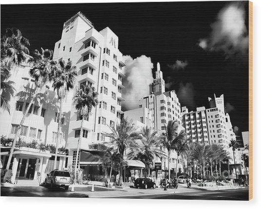 Collins Avenue South Beach Wood Print
