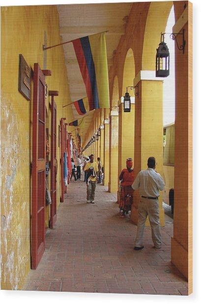 Colombia Walkway Wood Print