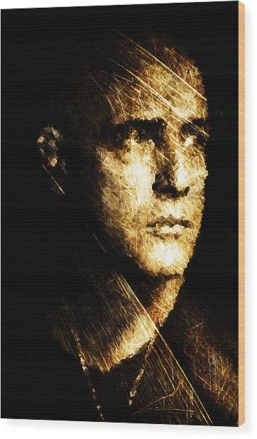 Colonel Kurtz Wood Print by Andrea Barbieri