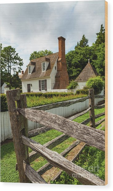 Colonial America Home Wood Print