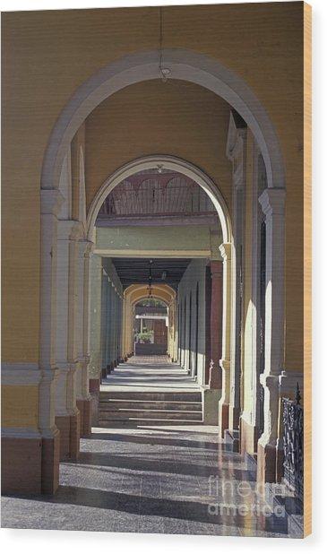 Colonial Arches Granada Nicaragua Wood Print