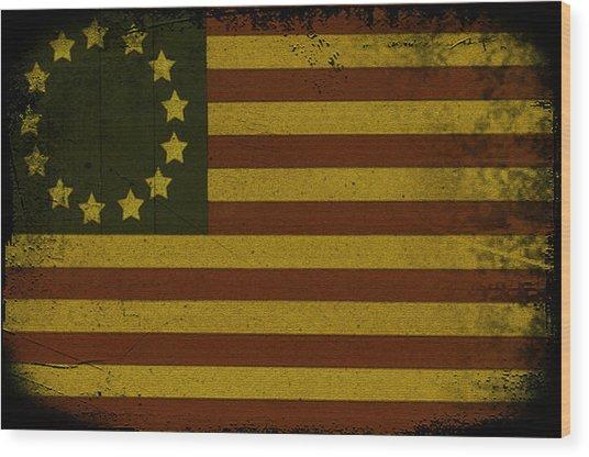 Colonial Flag Wood Print