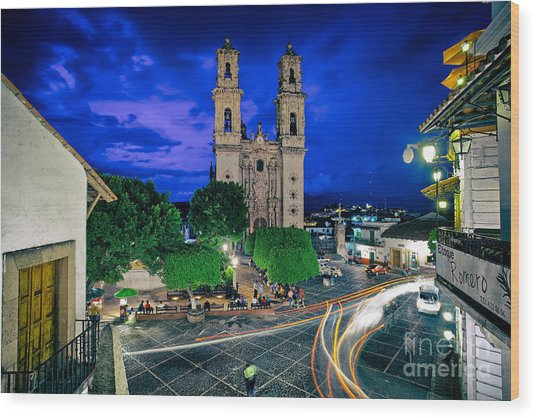 Colonial Town Of Taxco, Mexico Wood Print