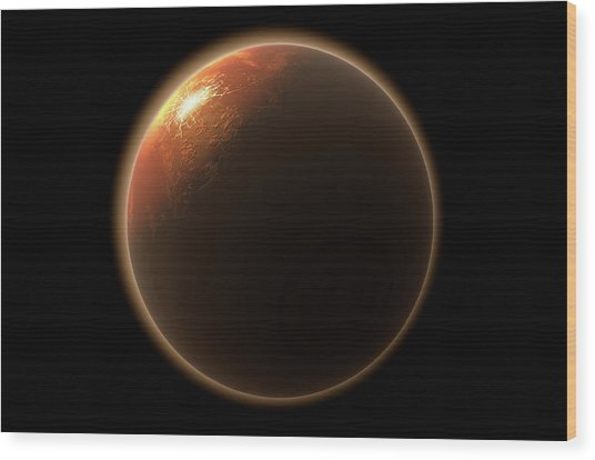Colonization Of Mars Wood Print