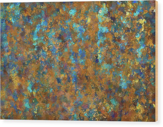 Color Abstraction Lxxiv Wood Print