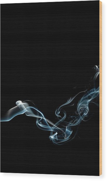 Color And Smoke Vi Wood Print