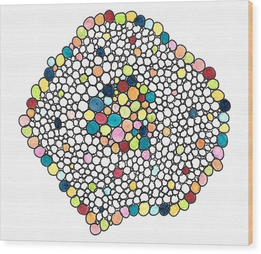 Color Cells Wood Print