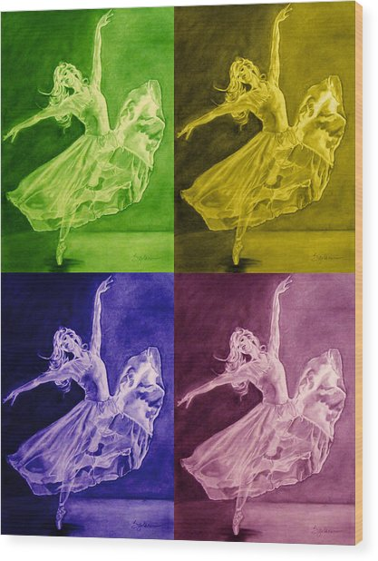 Color Dancer Wood Print