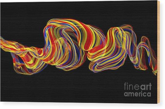 Color Flow Wood Print