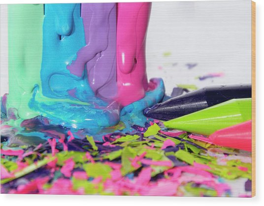 Color Madness Wood Print