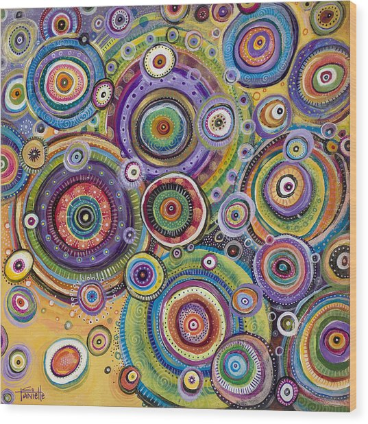 Color Me Happy Wood Print