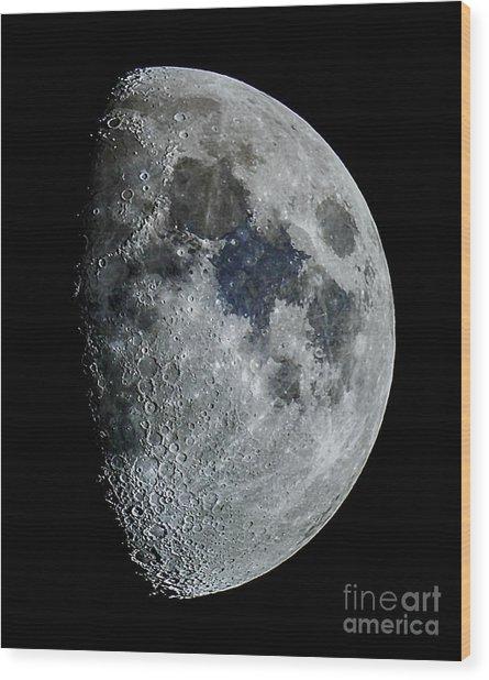 Color Moon Wood Print