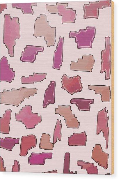 Color Pattern 2 Wood Print