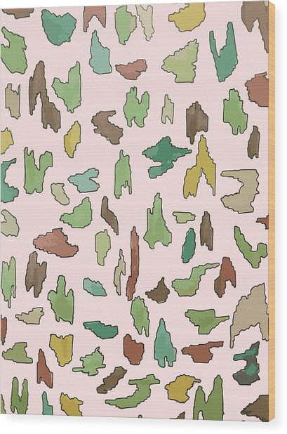 Color Pattern 3 Wood Print