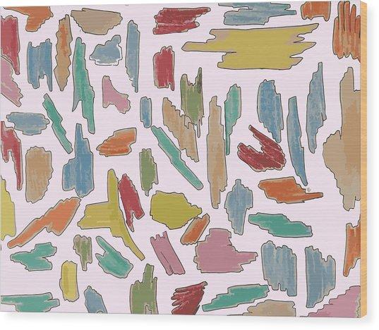 Color Pattern 5 Wood Print