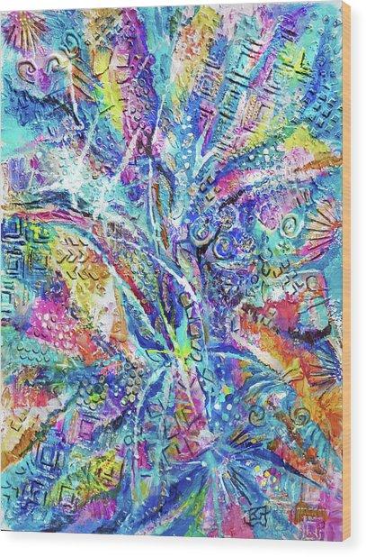 Color Play 1 Wood Print