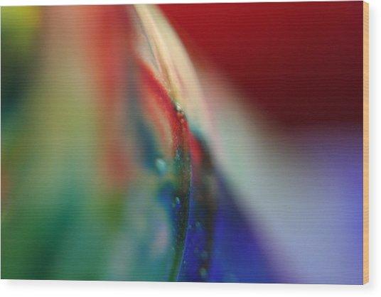 Color Run Wood Print