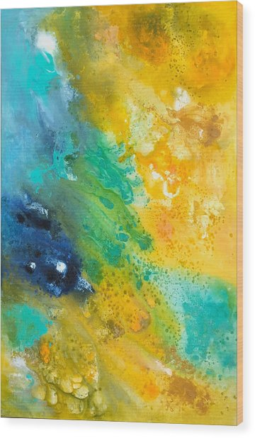 Color Splash... Wood Print