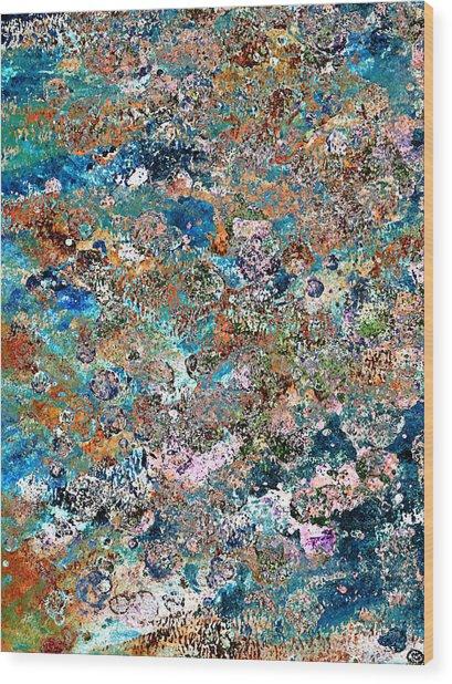 Color Splatter Wood Print by Frank Tschakert