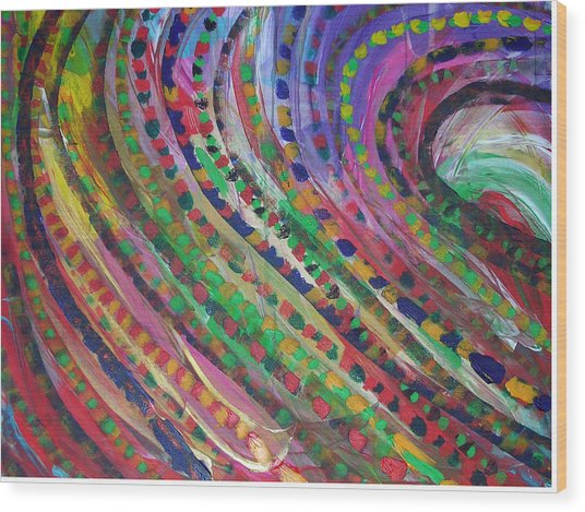 Color Storm Wood Print by Russell Simmons