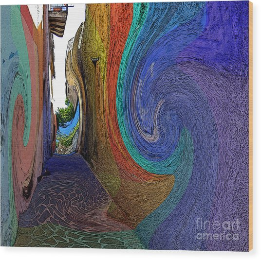 Color Undertow Wood Print by Ayesha DeLorenzo