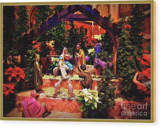 Color Vibe Nativity - Border Wood Print