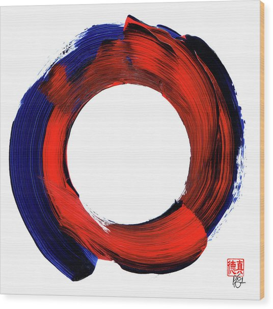 Color Zen Circle Wood Print