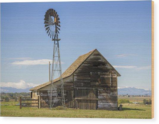 Colorado Barn Wood Print by Dave Crowl