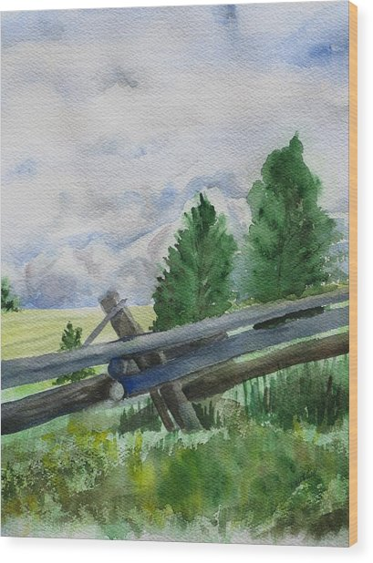 Colorado Clouds Wood Print by Kathy Mitchell