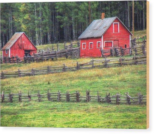Colorado Countryside  Wood Print