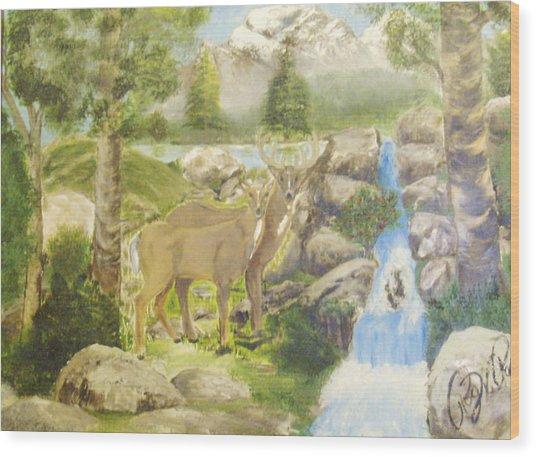 Colorado Couple Wood Print by Roger Rambo