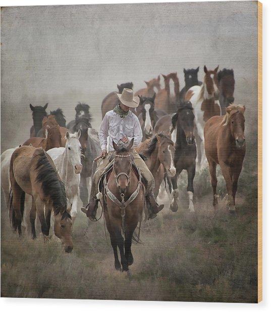 Colorado Cowboy Wood Print