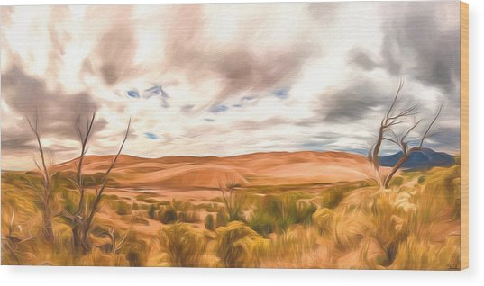 Colorado Dunes Wood Print