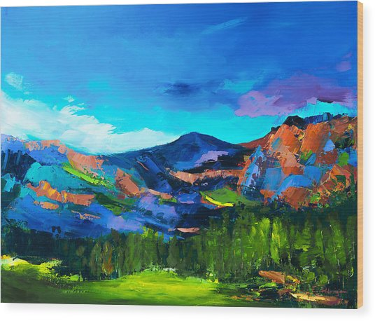 Colorado Hills Wood Print