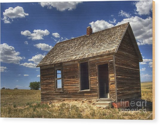 Colorado Homestead Wood Print