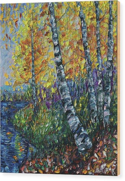 Glimpses Of Colorado Fall Colors Wood Print