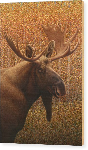 Colorado Moose Wood Print
