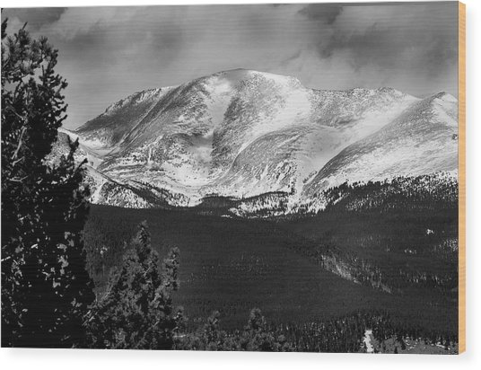 Colorado Mountains Wood Print