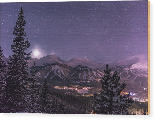 Colorado Night Wood Print