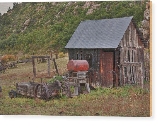 Colorado Ranch Wood Print