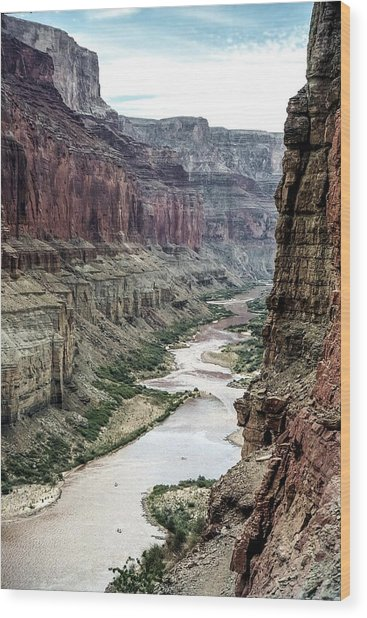 Colorado River And The East Rim Grand Canyon National Park Wood Print