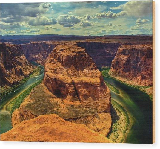 Colorado River At Horseshoe Bend Wood Print