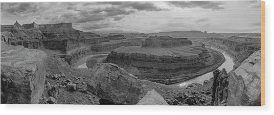 Colorado River Gooseneck Pano Wood Print