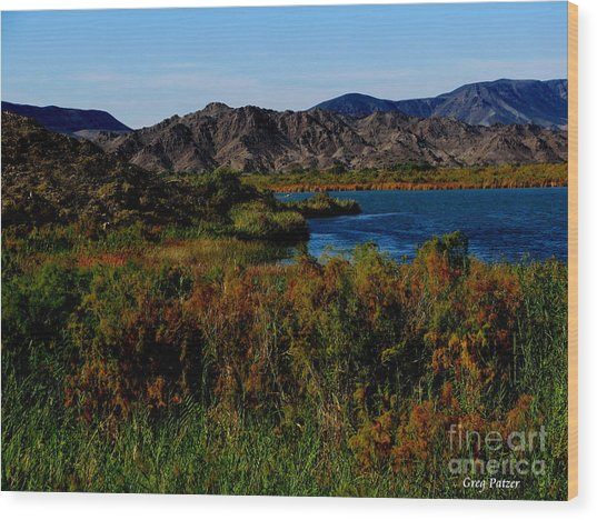 Colorado River Wood Print by Greg Patzer