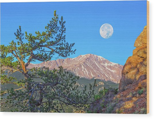 Colorado Rocky Mountain High, Just A Breath Away From Heaven Wood Print