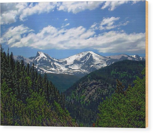 Colorado Rocky Mountains Wood Print