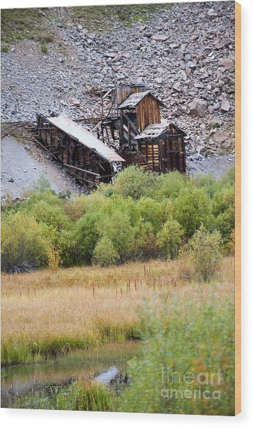 Colorado Silver Mine  Wood Print